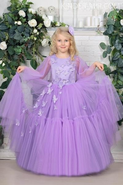 008a93c030ad4fe Нарядное платье для девочки Батерфляй сиреневое купить в интернет ...