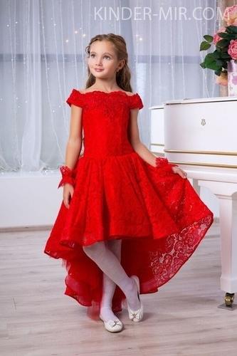 ce5b820ed372552 Детское нарядное платье Серенада красное купить в интернет-магазине ...