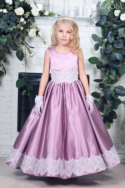 31e8de119f4f24b Праздничное детское платье Виктория светло-сиреневое купить в ...