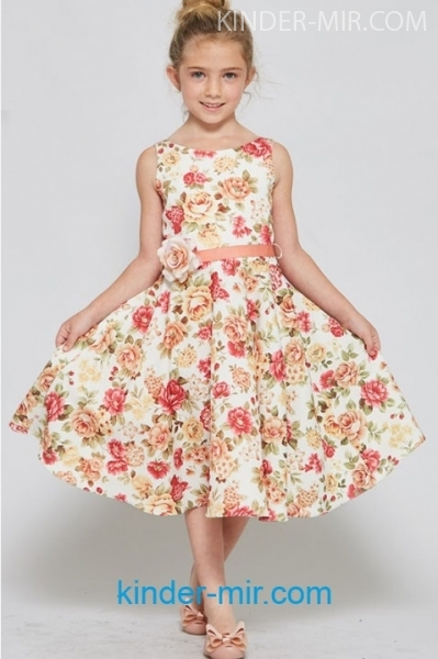 3fee33ccc3e Нарядное платье Цветы купить в интернет-магазине Kinder-mir. Цена 2 ...